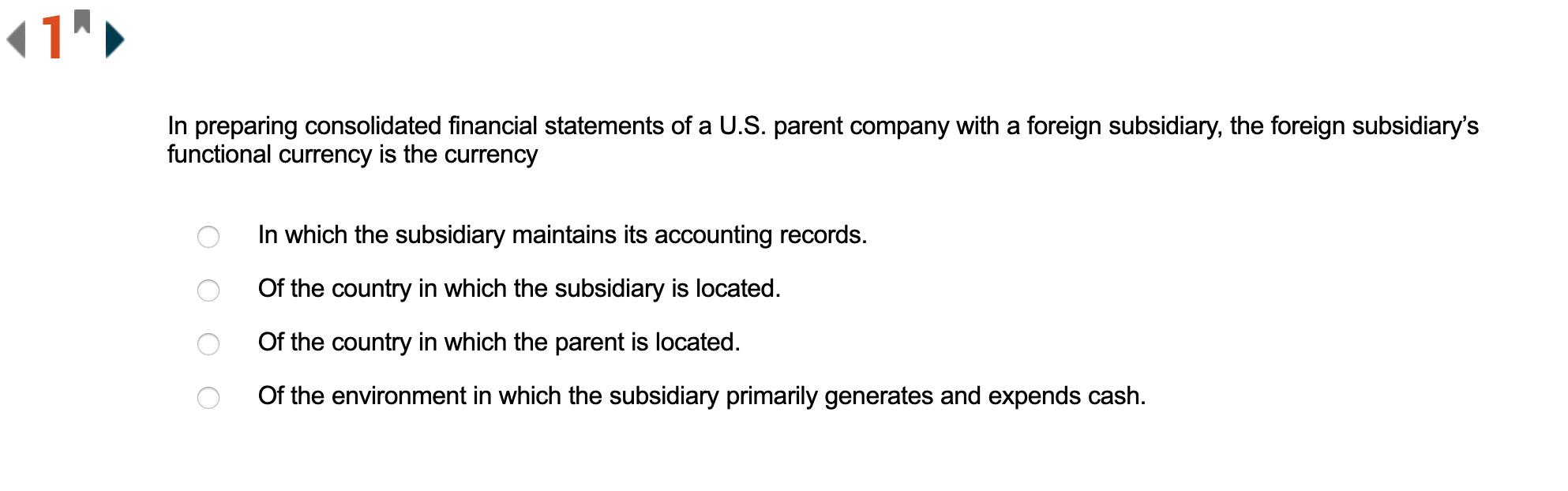 米国公認会計士のサンプル問題